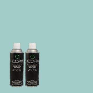 Hedrix 11 oz. Match of 2A50 4 Aqua Reef Flat Custom Spray Paint (2 Pack) F02 2A50 4