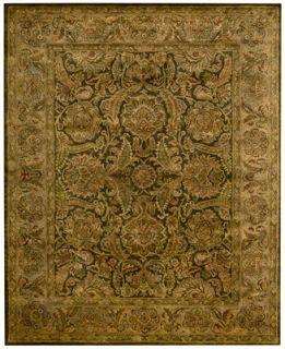 Nourison Rajah Kashan Brown 39 x 59 Area Rug   Rugs