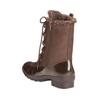 A2 by Aerosoles Womens Barricade Duck Boot Dark Brown Combo