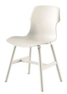 Stereo Metal Chair   Indoor / outdoor   Polypropylene & metal legs White by Casamania