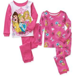 Baby Toddler Girl Character Cotton Pajamas, 2  Sets