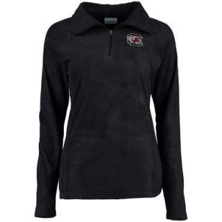 South Carolina Gamecocks Columbia Womens Glacial II Quarter Zip Fleece Jacket   Black