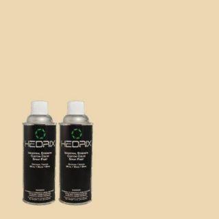 Hedrix 11 oz. Match of 45YY69/157 Sea Sponge Flat Custom Spray Paint (2 Pack) F02 45YY69/157