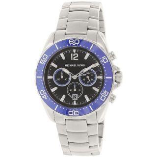 Michael Kors Mens MK8422 Winward Round Silvertone Bracelet Watch