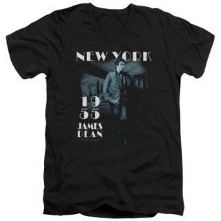 James Dean Brooklyn Bridge Mens V Neck Shirt