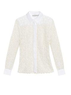 Owena paisley macramé lace blouse  Mary Katrantzou US