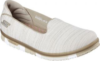 Womens Skechers GO MINI FLEX Walk Slip On Walking Shoe   Taupe