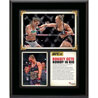 Ronda Rousey Ultimate Fighting Championship  Authentic 10.5 x 13 UFC 190 And Still Womens Bantamweight Champion Sublimated Plaque