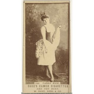 Card Number 769, Fanny Rice, from the Actors and Actresses series (N145 5) issued by Duke Sons & Co. to promote Cameo Cigarettes Poster Print (18 x 24)
