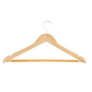 Honey Can Do Maple Basic Suit Hanger with Non slip Bar (8 pack