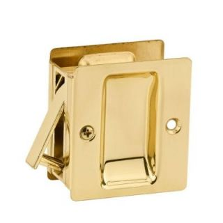 Kwikset Notch Polished Brass Hall/Closet Pocket Door Lock 332 3 SL DR LCK