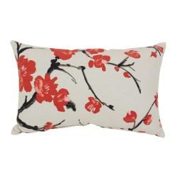 Pillow Perfect Flowering Branch Floral Throw Pillow