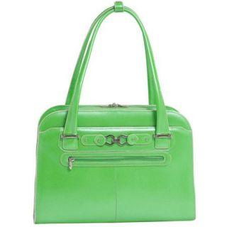McKlein USA Oak Grove Leather Fly Through Checkpoint Friendly Ladies Briefcase