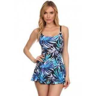 Dippin' Daisy's Blue River One Piece Swimdress Size 12