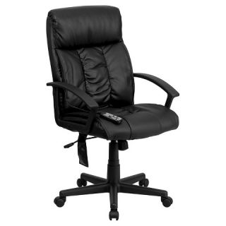 Massaging Executive Swivel Office Chair Black Leather  Flash Furniture