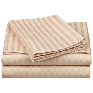 Simple Luxury 650 TC Egyptian Cotton Stripe Sheet Set