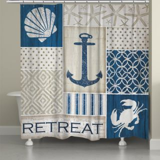 LauralHome Coastal Retreat Shower Curtain