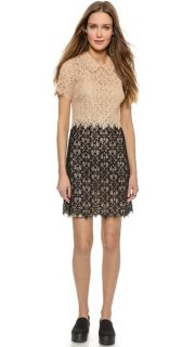 DKNY Colorblock Lace Dress