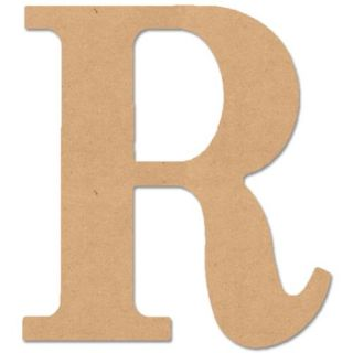 """MDF Classic Font Wood Letters & Numbers 9.5"""" Letter R"""