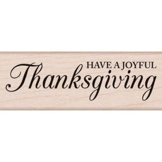 Hero Arts Mounted Rubber Stamp 2.75X1 Have A Joyful Thanksgiving