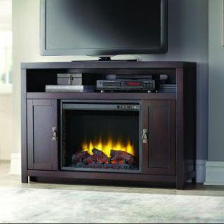 Home Decorators Collection Shavano 48 in. Media Console Electric Fireplace in Ebony Oak 238 46 75M Y