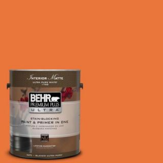 BEHR Premium Plus Ultra Home Decorators Collection 1 gal. #HDC MD 27 Tart Orange Flat/Matte Interior Paint 175301