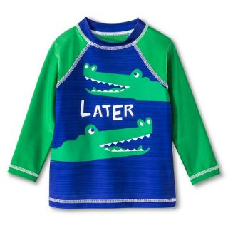 Baby Boys Later Alligator Swim Rash Guard   Navy