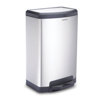 Cuisinart Half Round Step On 11 Gallon Trash Can