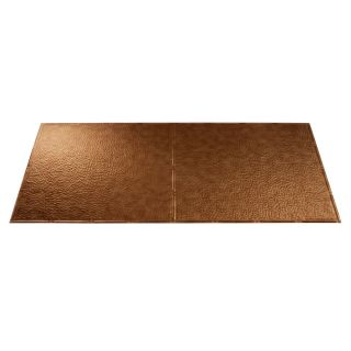 Fasade Antique Bronze Faux Tin Surface Mount Ceiling Tiles (Common: 48 in x 24 in; Actual: 48.375 in x 24.375 in)