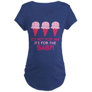 Cafepress Funny Ice Cream Quote Maternity Dark T Shirt