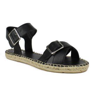 Fahrenheit Womens Jeana 03 Criss cross Womens Flat Espadrille Sandal
