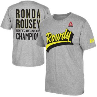 Ronda Rousey UFC Reebok Dimensional T Shirt   Heather Gray