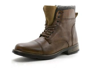 GBX Mens Tosh Ankle High Boots Lace Up Combat Style Casual Comfort Leather Shoes