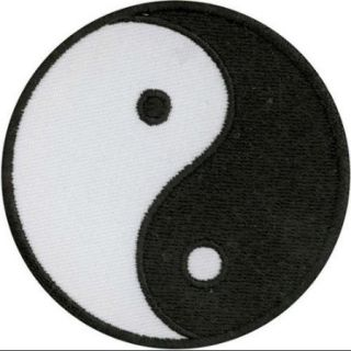 Patches For Everyone Iron On Appliques Yin Yang 1/Pkg