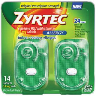 Zyrtec 24 Hour Allergy Tablets 10 mg, 14 ct on PopScreen