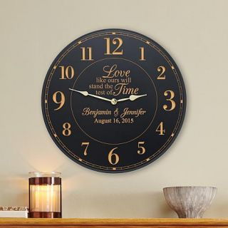 Personal Creations Personalized Test Of Time Wedding Clock   8129025