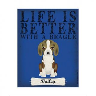 Personal Creations Life is Always Better Dog Breed Art   Beagle   7469655