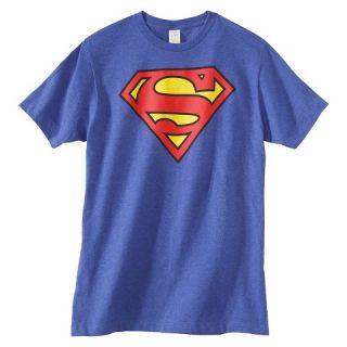 Mens Big & Tall Superman T Shirt Royal Blue