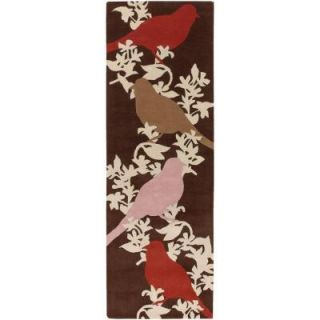 Chandra Thomaspaul Brown/Cream/Pink/Red 2 ft. 6 in. x 7 ft. 6 in. Indoor Runner T GCTP 2676