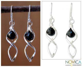 Sterling Silver Love Memories Onyx Earrings (Thailand)   14163029